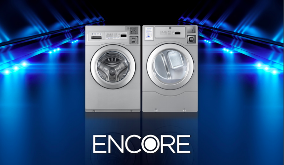 Encore logo because Cates is an exclusive distributor of this brand. DISTRIBUTOR is LOCATION's #1 commercial laundry distributor, providing quality commercial laundry equipment, including washing machines, dryers, and ironers. DISTRIBUTOR can outfit your laundromat business with the best coin laundry machines. We also provide on-premises laundry solutions for commercial laundries, hotels, hospitals, restaurants, and more. DISTRIBUTOR only sells the best brands: Electrolux, Wascomat, Encore, and PLUS. Contact us today! Your satisfaction is our guarantee.